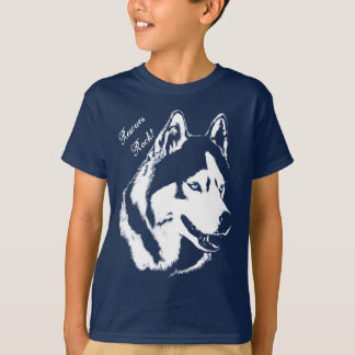Kid's Husky Shirt Rescue Dog Kid's Husky T-shirts