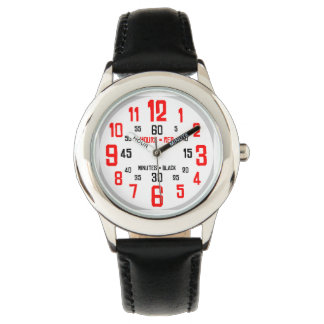 Custom Learning To Tell The Time Wrist Watches | Zazzle.co.nz