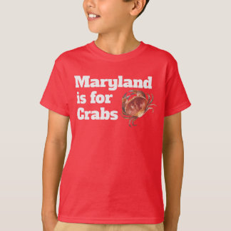 KIDS - Maryland is for Crabs SL T-Shirt