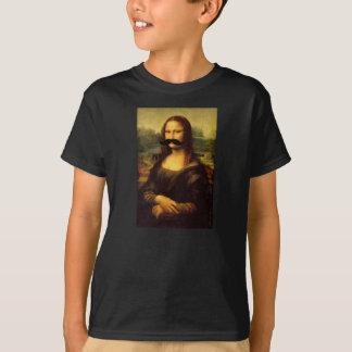 Kids' Mona Lisa Mustache Funny Tee by JaneZoe