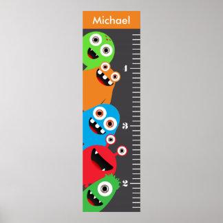 Kids Monster Growth Chart Poster