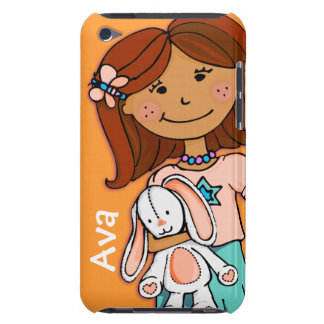 Kids name ipod touch girl cuddle orange iPod touch covers