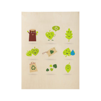 Kids poster with Bio green leaves