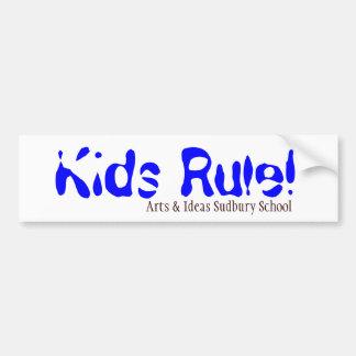 Kids Rule! Bumper Sticker