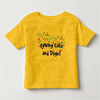 Kids Shirt~ Raining Cats & Dogs Toddler T-Shirt