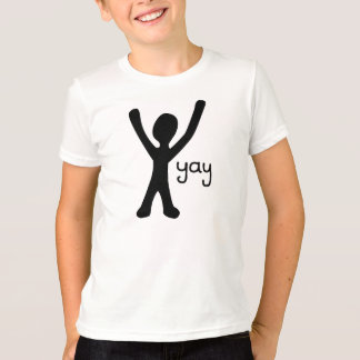 Kid's shirt with Stick Figure and Yay!