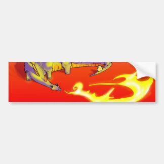 Kids Stegosaurus Breathing Fire by Alberto Rios Bumper Sticker