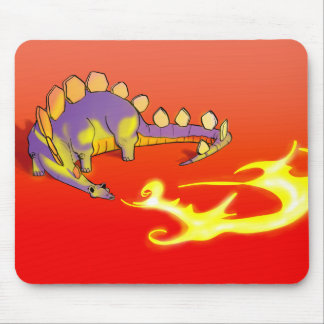 Kids Stegosaurus Breathing Fire by Alberto Rios Mouse Pad