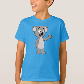 Kids' T-Shirt with koala bear cartoon