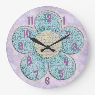 Kids Textured Flower Large Clock