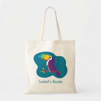 Kids toucan graphic art library bag
