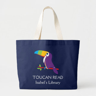 Kids toucan read graphic art library bag