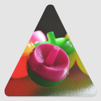 Kid's Toy Tops Spin Candy Colored Triangle Sticker