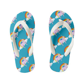 Kids Unicorn Flip-Flops Thongs