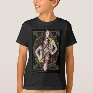 Kid's unisex double-sided short sleve shirt