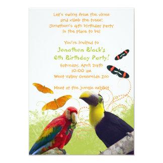 Kids Zoo Animals Birthday Party Invitation