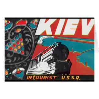 Kiev Intourist USSR Card