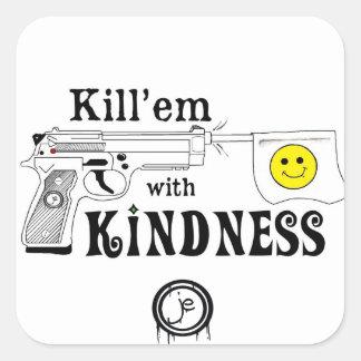 kill em square square sticker