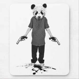 Killer panda mouse pad