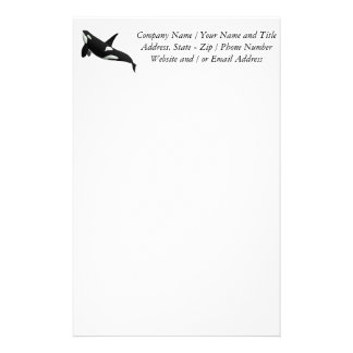 Killer Whale, Orcinus Orca Stationery