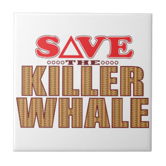 Killer Whale Save Small Square Tile