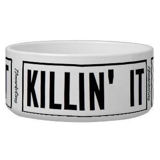 Killin It' Pet Food Water Bowl Dog Cat 72marketing