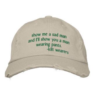 Kilt-wearer's hat embroidered baseball cap