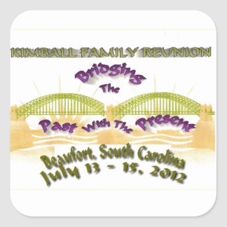 Kimball Family Reunion Square Sticker