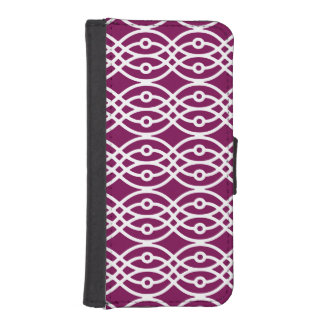 Kimono print, eggplant purple and white