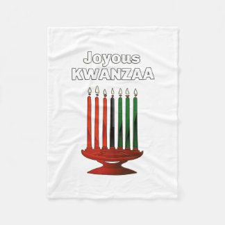 Kinara Kwanzaa Fleece Blanket