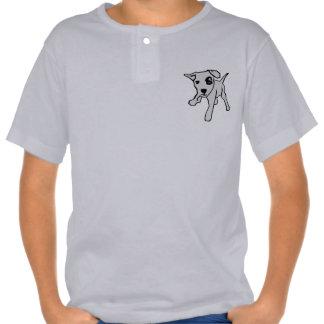 Kinder T-shirt grau mit Hund