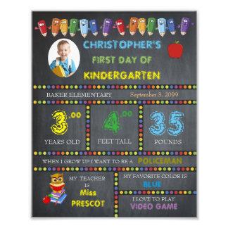 KINDERGARTEN Sign Boy,low price,PHOTO,8x10 Photo Print