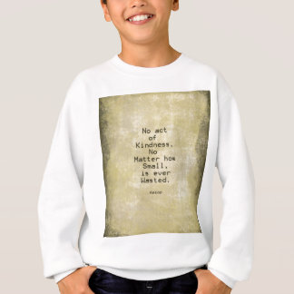 Kindness Compassion Quote Aesop Sweatshirt
