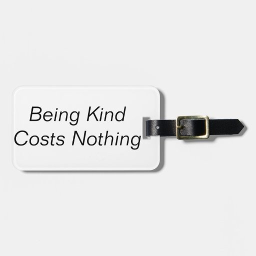 Kindness Tags For Luggage