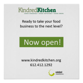 Kindred Kitchen Poster option 1