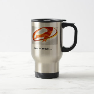 "Kinesis Project Logo with ""need to move...."" Travel Mug"