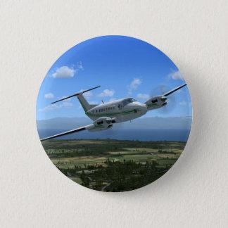 King-Air Turboprop Aircraft 6 Cm Round Badge