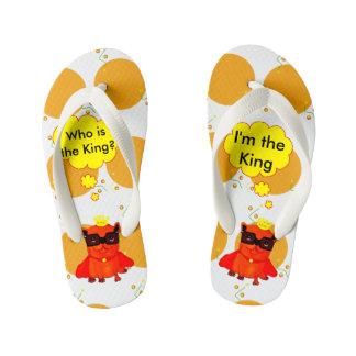 King Bulldog illustration, cool bulldog Thongs