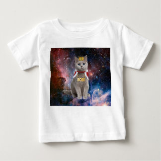 king cat in the space baby T-Shirt