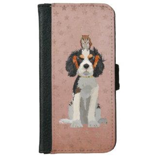 KING CHARLES CAVALIER & OWL iPhone 6 WALLET CASE