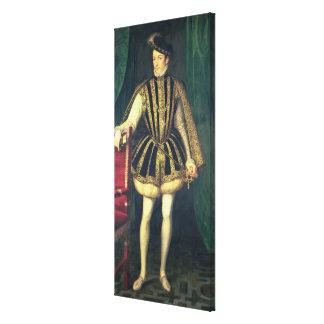 King Charles IX of France , c.1565 Canvas Print