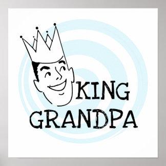 King Grandpa T-shirts and Gifts Poster