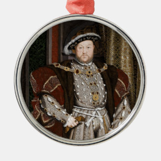 King Henry VIII of England Silver-Colored Round Decoration