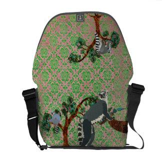 King Julian Boho Damask Messenger Bag