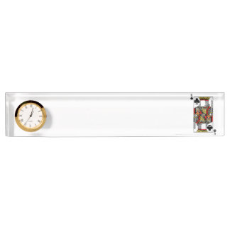 King of Clubs - Add Your Image Desk Nameplate