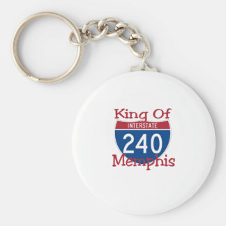 King Of Memphis Basic Round Button Key Ring