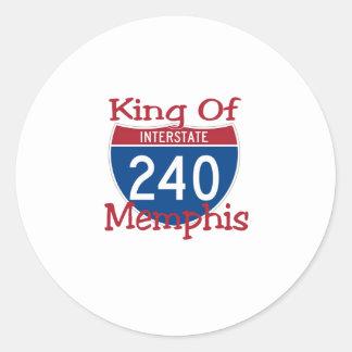 King Of Memphis Round Sticker