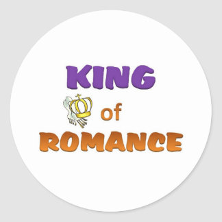 King of Romance Round Sticker