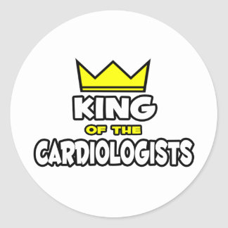 King of the Cardiologists Round Sticker