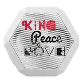 KiNG Peace and Love White Bluetooth Speaker